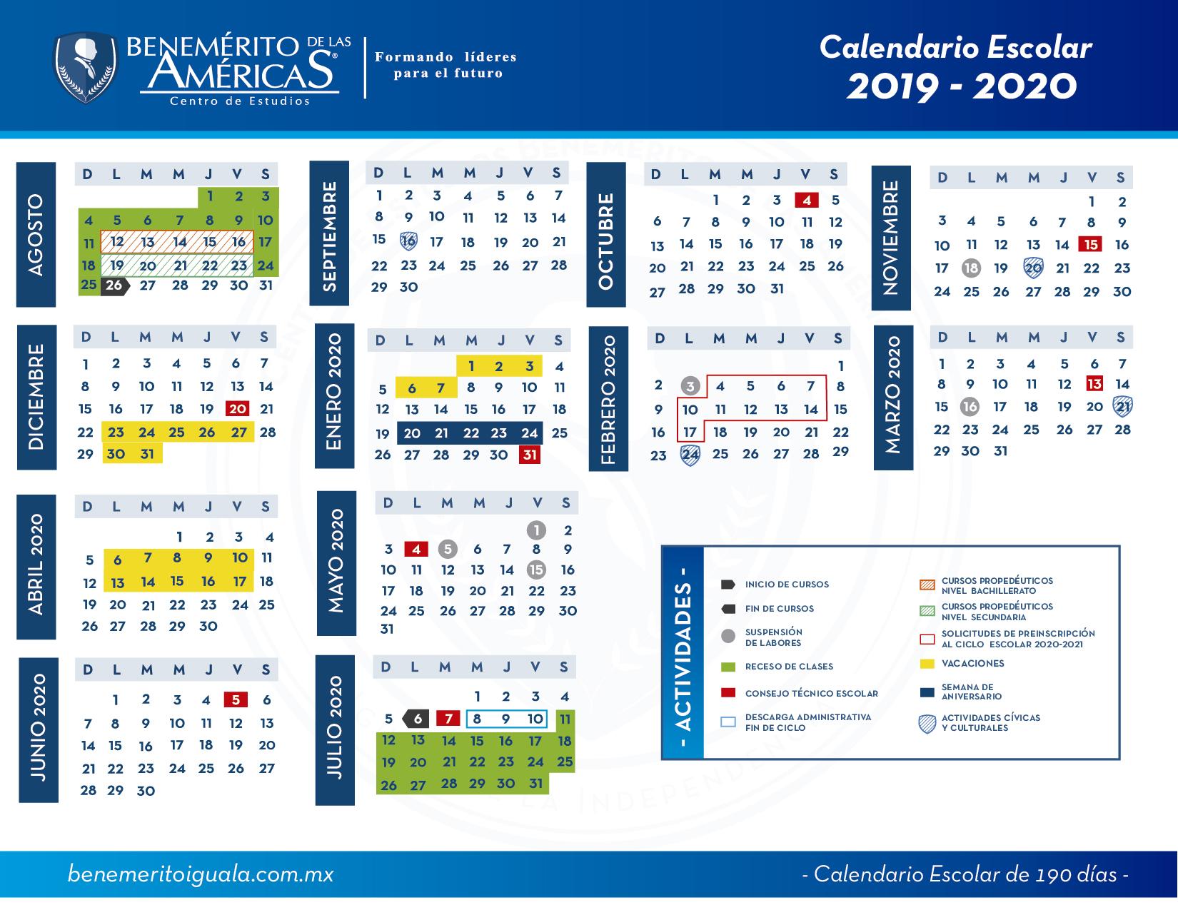 calendario escolar 2019-2020-01